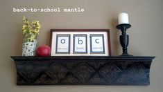 Back-to-School Mantle