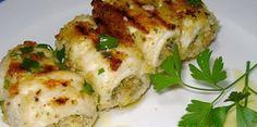 Ingredienti:  • 12 fettine sottili di pesce spada (circa 1 kg) • 70 g di caciocavallo • basilico • prezzemolo • pangrattato
