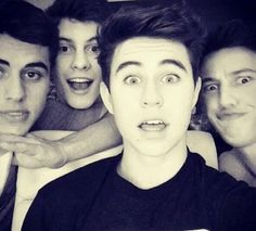 Left to Right: Jack Gilinsky, Shawn Mendes, Nash Grier, Cameron Dallas