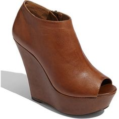 Steve Madden 'Wiicked' Wedge Bootie Cognac Leather 10 M