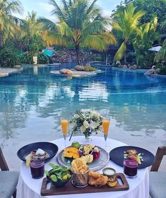 Vacation Places, Honeymoon Destinations, Dream Vacations, Places To Travel, Places To Go, Breakfast Around The World, Backyard Pool Designs, Luxury Travel, The Good Place