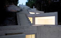 Would welcome the cool temperature in this house - modern-buried-concrete-house