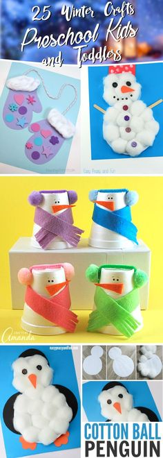 25 Winter Crafts Preschool Kids and Toddlers Are Going To Fall in Love With #winter #craft #preschool #kids #christmas