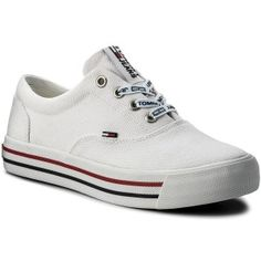 e44d1639793 Tenisky TOMMY HILFIGER - JEANS Tommy Jeans Sneaker EN0EN00166 White 100