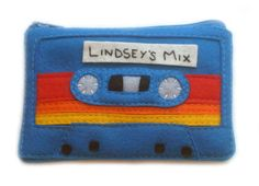 Cassette Tape Pouch  Custom Label  Any Colors by BraveMoonman, $38.00