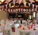 Vintage bunting, The Coach House, The Swan at Hay Hotel - wedding venue