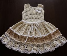 Crochet Baby Dress. $99.00, via Etsy.