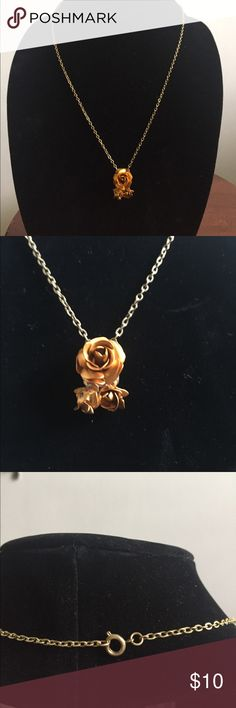 Rose Necklace Very unique. No markings 22 inches long Jewelry Necklaces