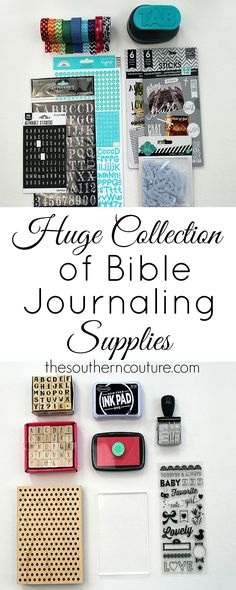 Check out this MASSIVE round-up and collection of THE best Bible journaling supplies you will ever use. Not sure what kind of pens to use that won't bleed through. Find out the answer to that question and many more.