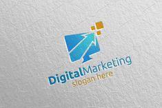 Digital Marketing Financial Logo 54 by denayunebgt on Vector Logo Design, Logo Design Template, Logo Templates, Graphic Design, Marketing Logo, Sales And Marketing, Marketing Digital, Planning Budget, Financial Planning