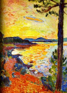 1904 Henri Matisse le goûter. Golfe deSt.Tropez