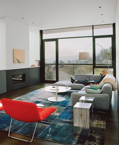 San Francisco living room with modern furniture