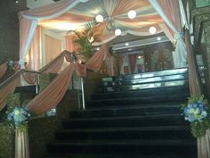 Stair decor of wedding day