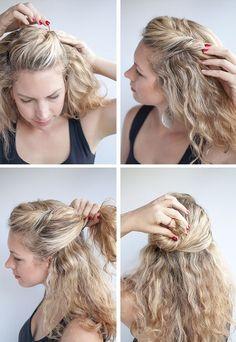affordable peinados con pelo rizo with peinados con pelo rizo - Recogidos Informales Pelo Rizado