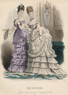 1870s ball gowns