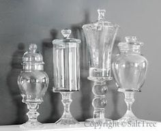 How to make these beautiful apothecary jars! For cheap!