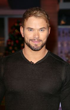 Kellan Lutz doing press in Miami. Grooming by Kindra Mann.