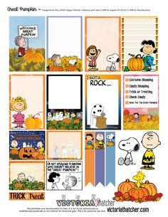 Downloaded KB!! FREE The Great Pumpkin Planner Printable. Victoria Thatcher