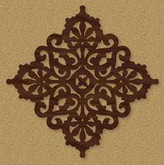 Western Scroll Saw Patterns   Victorian Trivet Pattern