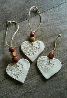 Cornstarch clay ornaments More