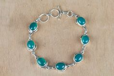 #Wholesale #Retail #Beautifully #Handmade #Green #Onyx Gemstone #Bracelet for Women,by Brillante Jewelry Made from 92.5 sterling Silver #Green #Onyx Gemstone #Bracelet. And by using Natural Gemtones..Pick this #Bracelet to add new definition to your Personality.About the Brand-Associated with Glamour,style and class,Brillante–Jewelry fashion jewelry appeals to,women across all age-groups.