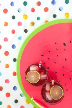 {summer} DIY Watermelon Serving Tray