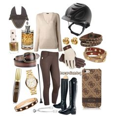 Bronzy Brown, created by bacardiandeq on Polyvore