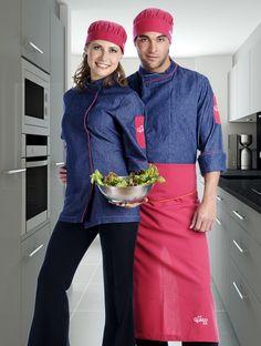 Uniforme de empleados de restaurante para cocina http://www.creacionesred.com.mx/
