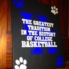 I made this for a friend as a housewarming gift :) UK basketball - the greatest tradition in the history of college basketball