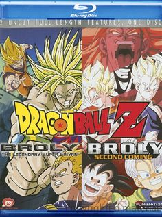 Dragon Ball Z: Broly / Dragon Ball Z: Broly Second Coming (Double Feature) (Blu-ray )   DVD Empire