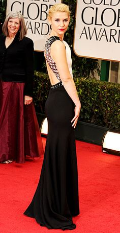 I thought Claire Danes looked flawless in this J.Mendel dress. Also, an example of an age appropriate backless dress.
