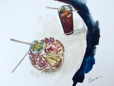 Have Watercolors Will Travel: Un Vermut