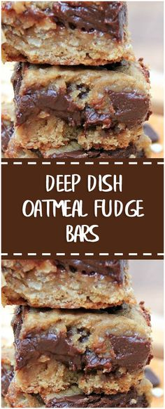 DEEP DISH OATMEAL FUDGE BARS  #deep #dish #oatmeal #fudge #bars #whole30 #foodlover #homecooking #cooking #cookingtips