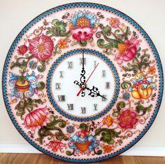 "Gallery.ru / ""Драгоценная тарелочка"", диаметр 30 см. - Часы - enehi"