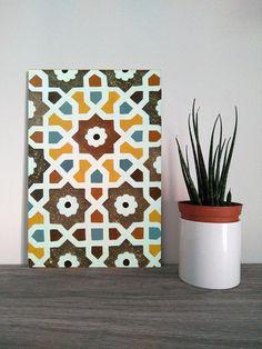 Islamic Tiles, Islamic Art, Damask Wall Stencils, Islamic Wall Decor, Painting Ceramic Tiles, Arabic Design, Zentangle, Uni, Design Elements