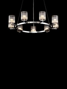 Flute Chandelier Ceiling Light | Contemporary Lighting Products