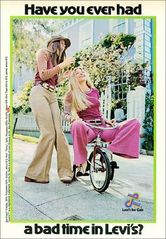 Good Times, 1972 by MewDeep, via Flickr. I wish they still sold bell-bottoms.