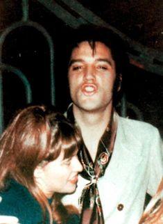 Sandy Miller with her friend Elvis