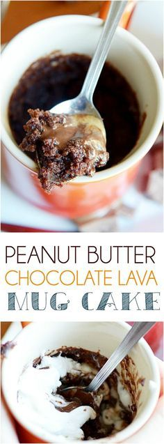 Single Serve Chocolate Molten Lava Mug Cakes made in a minute in the microwave