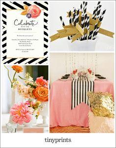 Flower Pop Party Inspiration Board | Tiny Prints Blog