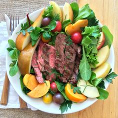 Flap Steak Salad Bowl #WeekdaySupper