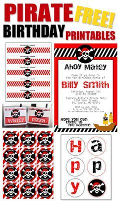 Pirate Themed Birthday Party with FREE Printables!