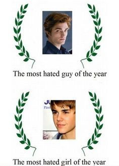 Bahaha, they only hate Edward because he's so awesome! Justin Bieber on the other hand I can't stand! Stupid Funny Memes, Hilarious, Justin Bieber Jokes, Witty Quotes, Fun Quotes, Lol, Morning Humor, Wholesome Memes, Decir No