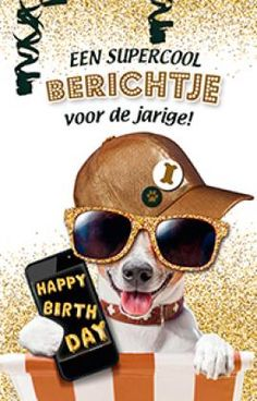 Happy Birthday Pictures, Happy Birthday Cards, Birthday Wishes, Funny Dogs, Funny Animals, Happy B Day, Jack Russell Terrier, Funny Cards, Cool Cards