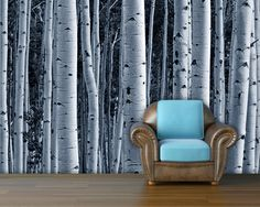 Aspen forest trees mural wallpaper repositionable by StyleAwall, $480.00