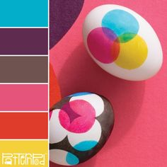 Neon Eggs #patternpod #patternpodcolor #color #colorpalettes