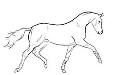Image result for drawing trotting horse