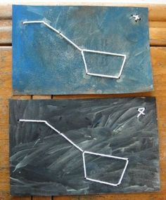 Constellation Paintings of the Dippers. this would be fun for the kids to make with straws, beads/ noodles, or for older kids to sew.