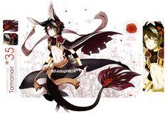 [Custom]Semi Chibi-Darker Red Tamanair 35 by Skf-Adopt