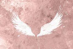 Alas blancas  impresión del arte de alas  alas moderno